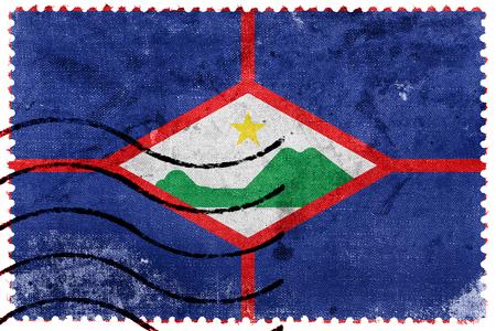 Flag of Sint Eustatius, Netherlands, old postage stamp Stock Photo