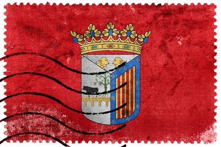salamanca: Flag of Salamanca, Spain, old postage stamp
