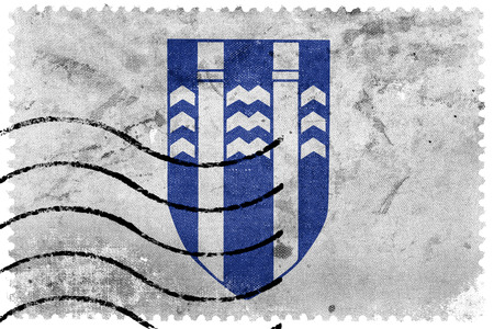 sello postal: Flag of Reykjavik, Iceland, old postage stamp