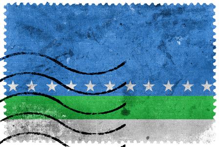 jose: Flag of San Jose, Costa Rica, old postage stamp