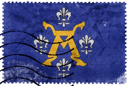 postage stamp: Flag of Turku, Finland, old postage stamp