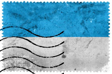 postage stamp: Flag of Viljandi, Estonia, old postage stamp