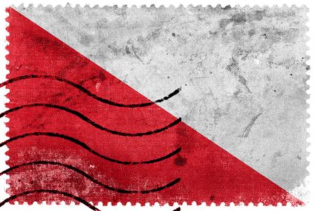 postage stamp: Flag of Utrecht, Netherlands, old postage stamp
