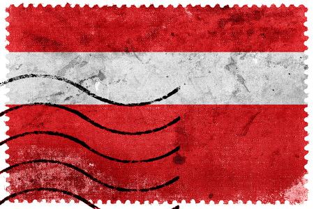 postage stamp: Flag of Vaduz, Lichtenstein, old postage stamp