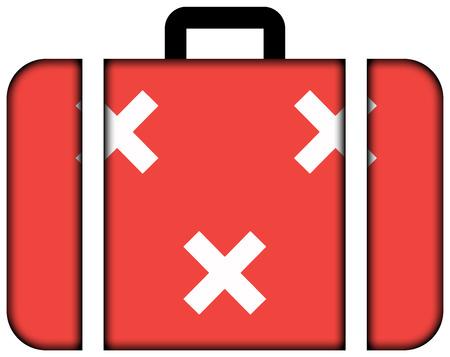 breda: Flag of Breda, Netherlands. Suitcase icon, travel and transportation concept Stock Photo