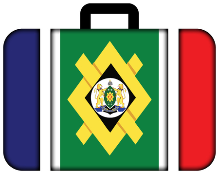 Flag of Johannesburg, South Africa. Suitcase icon, travel and transportation concept Stock Photo