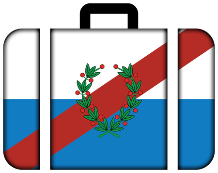 Flag of La Rioja Province, Argentina. Suitcase icon, travel and transportation concept Stock Photo