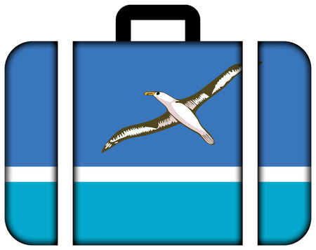 unincorporated: Flag of Midway Atoll (unofficial). Suitcase icon, travel and transportation concept Stock Photo