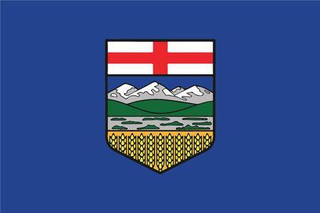 Flag of Alberta Province, Canada. Vector Format