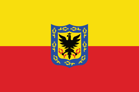 education policy: Flag of Bogota, Colombia. Vector Format
