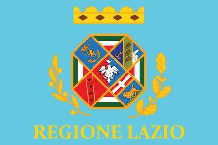 lazio: Flag of Lazio, Italy. Vector Format