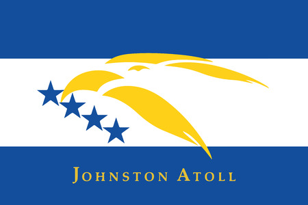 atoll: Flag of Johnston Atoll, USA. Vector Format Illustration