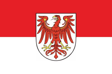 education policy: Flag of Brandenburg, Germany. Vector Format