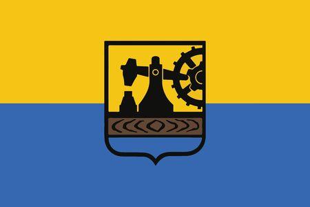 Flaga Katowic, Polska. Format wektorowy