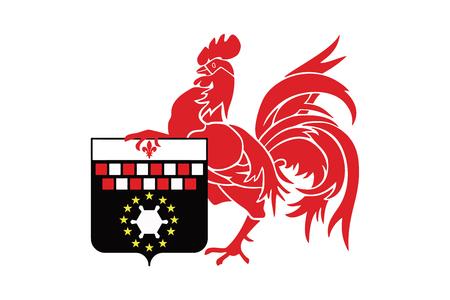 Drapeau de Charleroi, en Belgique. Vector Format