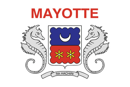 mayotte: Flag of Mayotte, France. Vector Format
