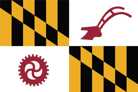 Flag of Baltimore County, Maryland, USA. Vector Format
