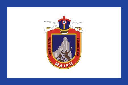 Bandera de Maipú, Chile. Formato vectorial