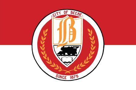 education policy: Flag of Beebe, Arkansas, USA. Vector Format