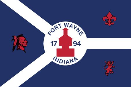 Flag of Fort Wayne, Indiana, USA. Vector Format