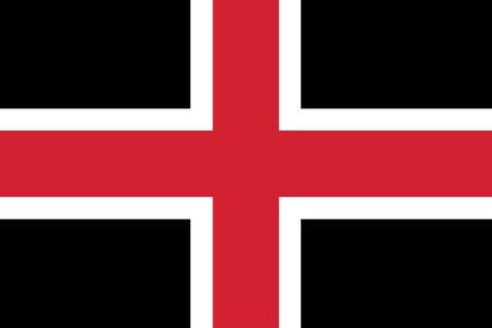 durham: Flag of Durham, England, UK. Vector Format Illustration
