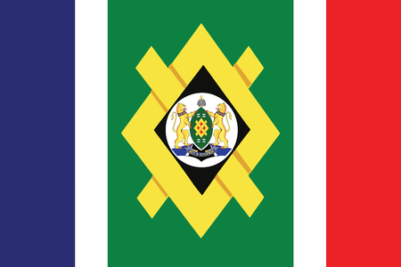 Flag of Johannesburg, South Africa. Vector Format