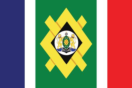 Flag of Johannesburg, South Africa. Vector Format