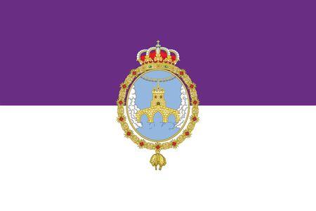 education policy: Flag of Loja, Spain. Vector Format Illustration