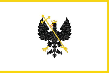 polity: Flag of Chernihiv, Ukraine. Vector Format