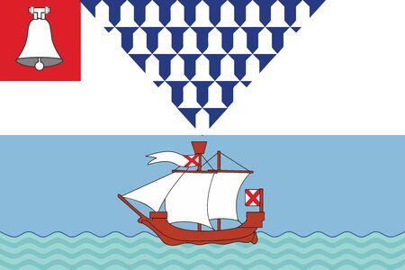 Flag of Belfast, Northern Ireland, UK. Vector Format