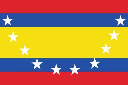 Flag of Loja Province, Ecuador. Vector Format Illustration
