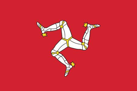Flag of Isle of Man. Vector Format Illustration