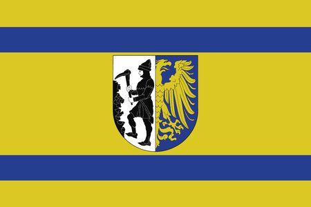 Flag of Bytom, Poland. Vector Format