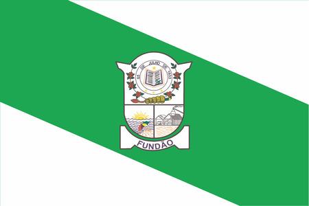 education policy: Flag of Fundao, Espirito Santo State, Brazil. Vector Format