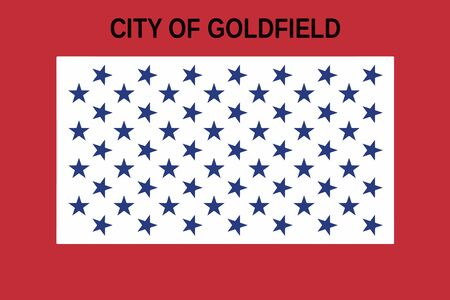 colorado: Flag of Goldfield, Colorado, USA. Vector Format Illustration