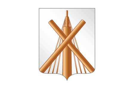 education policy: Flag of Babruysk, Belarus. Vector Format