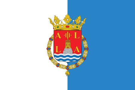 education policy: Flag of Alicante, Spain. Vector Format Illustration