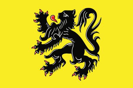 education policy: Flag of Flanders, Belgium. Vector Format
