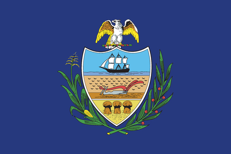 allegheny: Flag of Allegheny County, Pennsylvania, USA. Vector Format