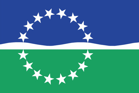 virginia: Flag of Hampton Roads, Virginia, USA. Vector Format