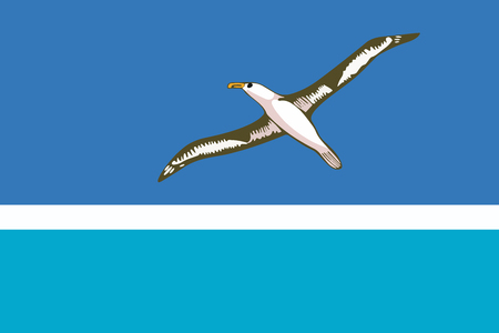 unincorporated: Flag of Midway Atoll (unofficial). Vector Format