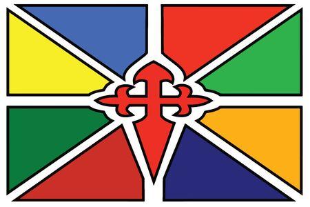 education policy: Flag of Merida, Venezuela. Vector Format