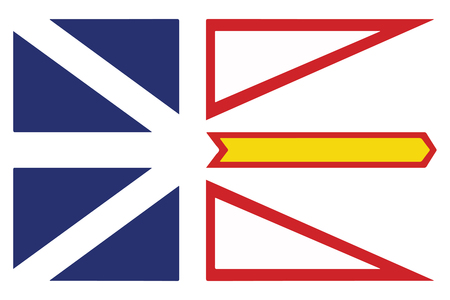 Flag of Newfoundland and Labrador Province, Canada. Vector Format