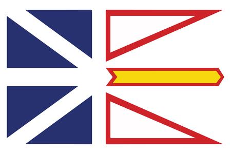 Flag of Newfoundland and Labrador Province, Canada. Vector Format