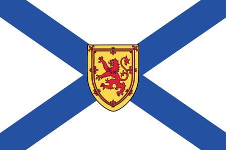 Flag of Nova Scotia Province, Canada. Vector Format Illustration