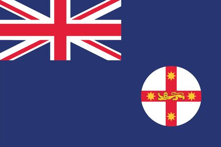 education policy: Flag of New South Wales State, Australia. Vector Format Illustration