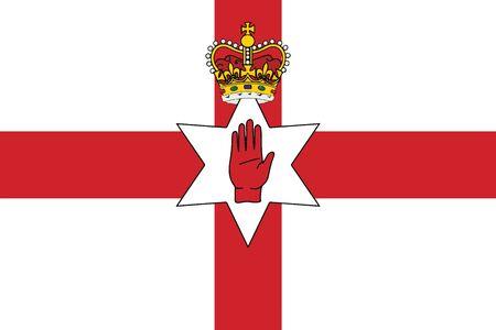 irish cities: Flag of Northern Ireland, UK. Vector Format