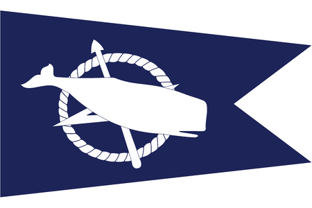 Flag of Nantucket, Massachusetts, USA. Vector Format Illustration