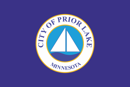 prior lake: Flag of Prior Lake, Minnesota, USA. Vector Format Illustration