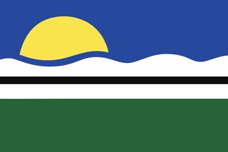 Flag of Quissama, Rio de Janeiro, Brazil. Vector Format Illustration